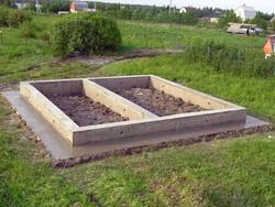 Фундамент под сарай