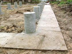 Фундамент на столбах