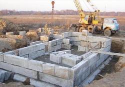 Фундамент из блоков