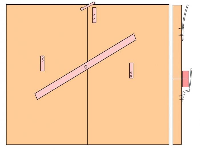 Засов «Вертушка» для двухстворчатых ворот