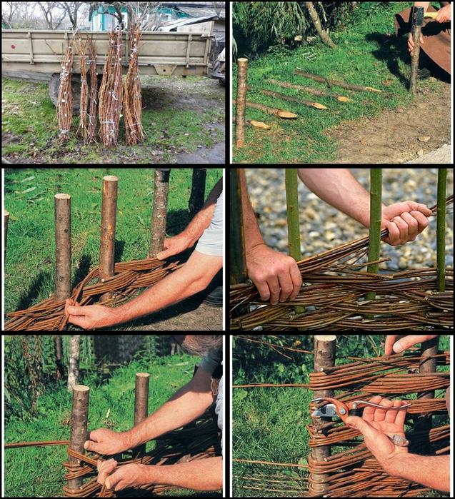 Плетеное ограждение своими руками