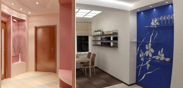 Ниша в прихожей или на кухне может быть как декоративным, так и функциональным элементом интерьера