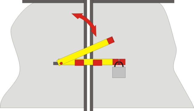 Засов «Шлагбаум» используют с уличной стороны ворот