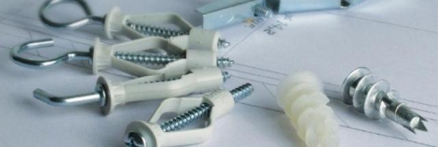 Дюбели для гипсокартона выпускаются из полипропилена и обладают множеством преимуществ в сравнении с другими крепежными материалами