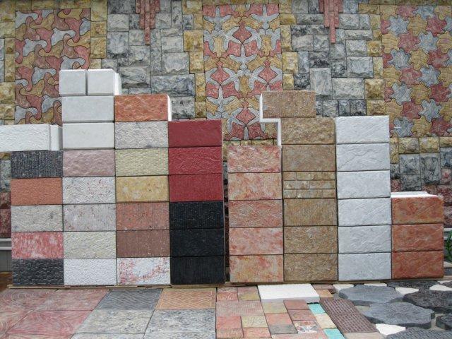 Бетонные блоки имеют множество цветовых решений и текстур