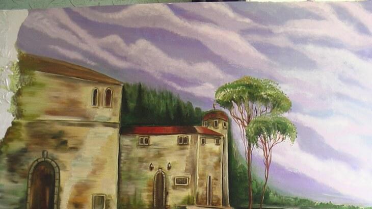 Современную квартиру украсит рисунок на стенах