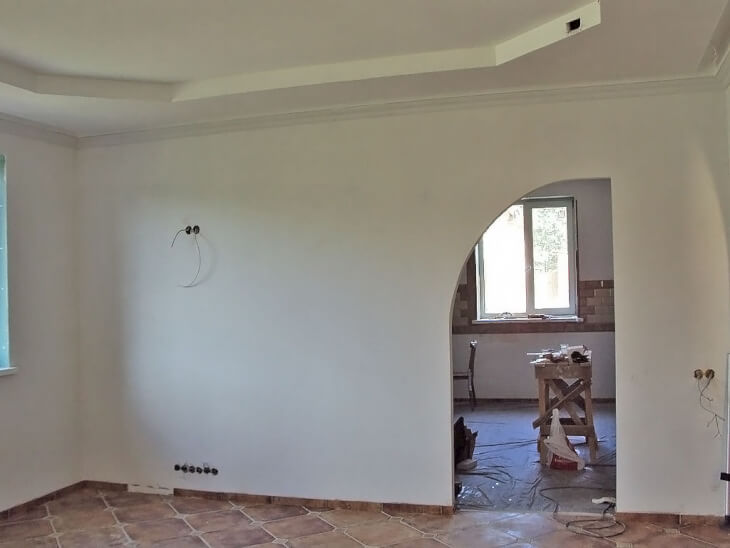 Отделка стен в доме гипсокартоном
