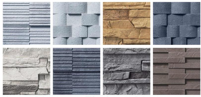 Текстуры фиброцементных плит
