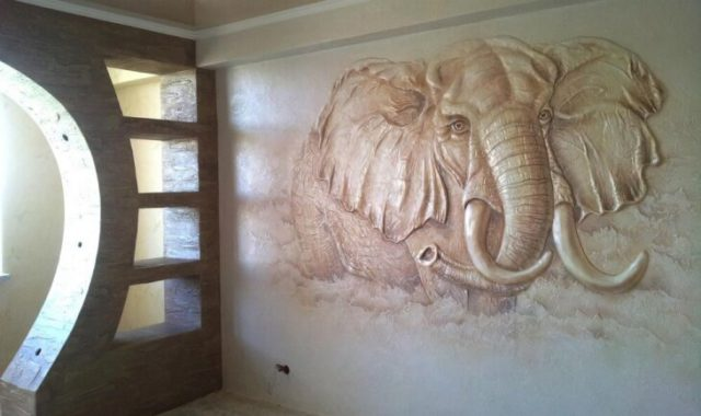 Создание рельефных картин с помощью шпаклевки