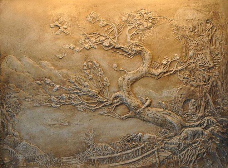 Картина рельефная своими руками 18
