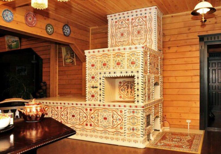 Дизайн печки в частном доме своими руками 2