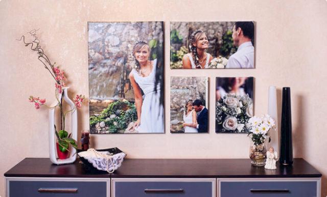 Панно из свадебных фотографий