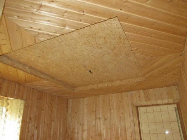 Фанера и потолок