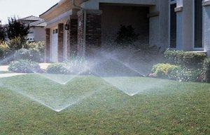 Полив газонов очень увеличивает расход воды