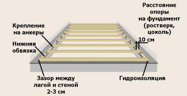 Размер лаг для пола – рекомендации по обустройству деревянного пола