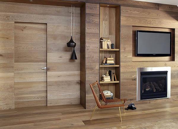 Отделка деревянными стеновыми панелями
