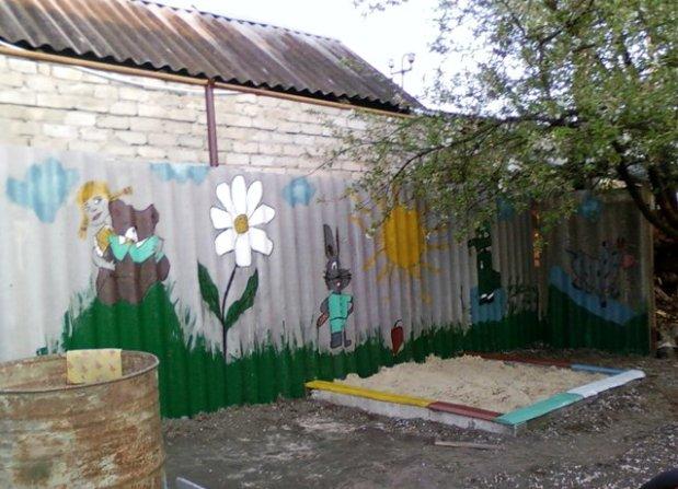 Забор своими руками из шифера фото 112