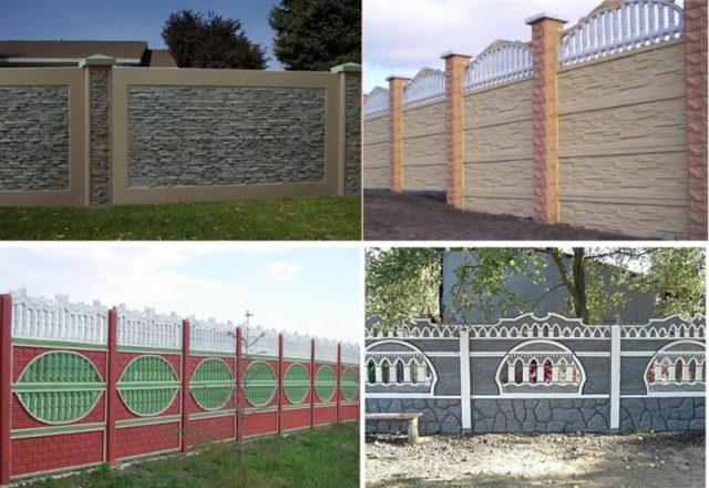 Выбор дизайна декоративных бетонных ограждений зависит только от ваших фантазий