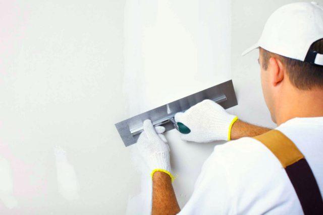Шпатлевка для наружных работ на стены идет с расходом до 1кг на 1м²