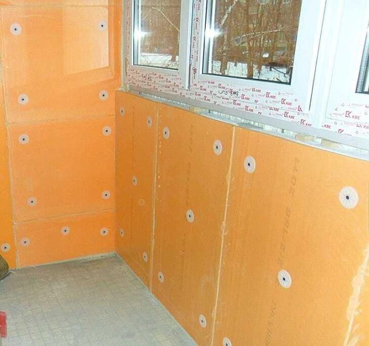 Пенополистерол для утепления внутренних поверхностей балкона