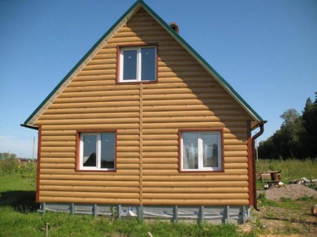 Обшиваем дом блокхаузом