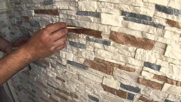 Чем покрыть искусственный камень