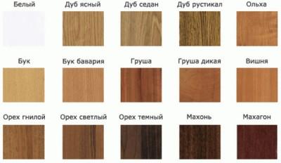 Некоторые цвета ламината, имитирующее деревянное покрытие