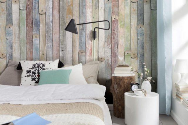 Фотообои на стенах в спальне