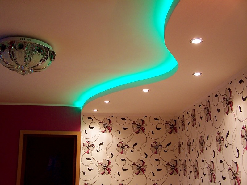 Дизайн потолков из гипсокартона - варианты