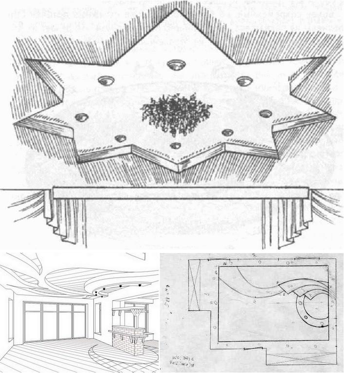 Эскизы потолков