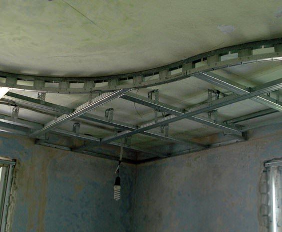 Подвесные потолки своими руками фото с гипсокартона