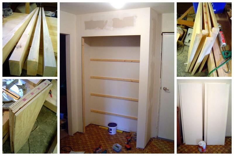 Как и из чего сделать встроенный шкаф