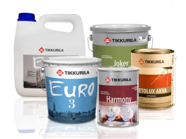 Компания Тиккурила выпускает различные виды фасадных красок на водной основе