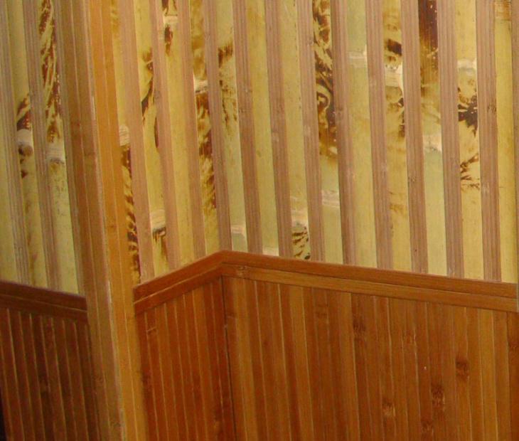 Внутренняя отделка стен бамбуковыми панелями