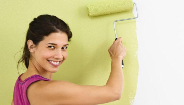 Красим стены вододисперсионной краской