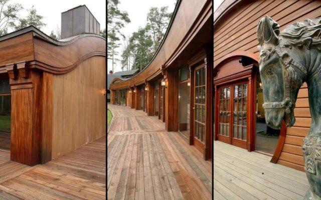 Отделка фасадов из дерева и имитация их стали модными