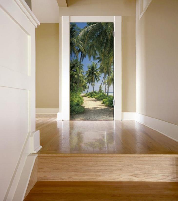 Фотообои на дверь