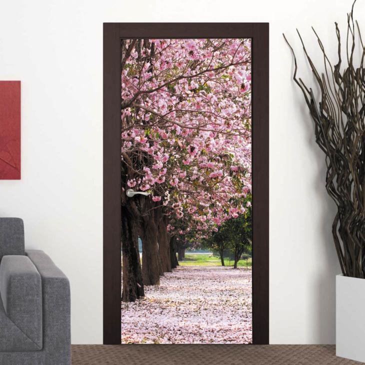 Создаем впечатляющий дизайн помещения с помощью фотообоев на дверь