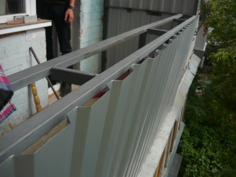 Балкон отделка профнастилом своими руками.