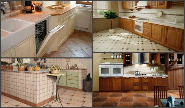 Керамогранит на кухню на пол