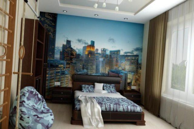 Фотообои в комнате у подростка