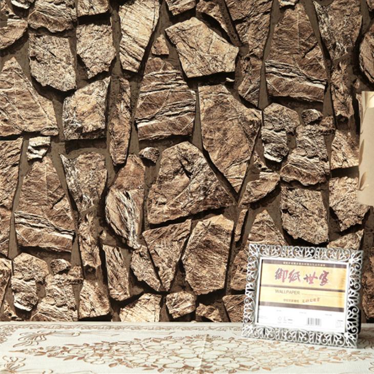Обои для стен под камень