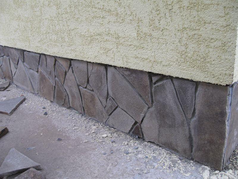 Природный камень для облицовки цоколя своими руками 888