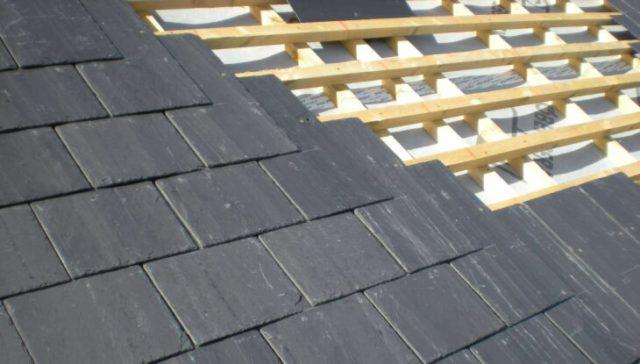 Технология монтажа покрытия крыши из плоского шифера