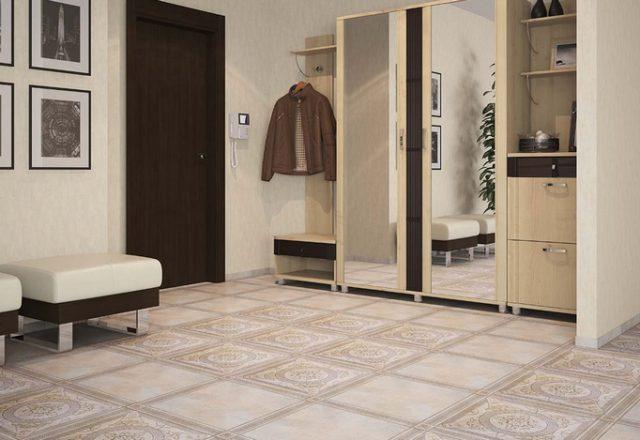 Напольная плитка в коридоре и прихожей должна не только вписываться в общий интерьер помещения, но и быть функциональной