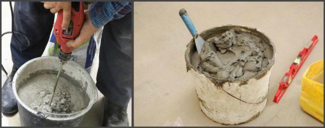 Приготовление плиточного клея и его консистенция