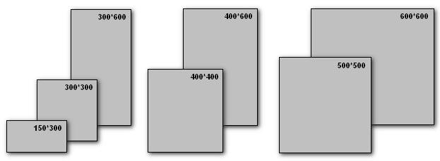 Размеры плитки