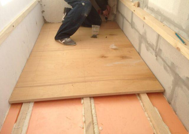 Монтаж теплого пола на балконе