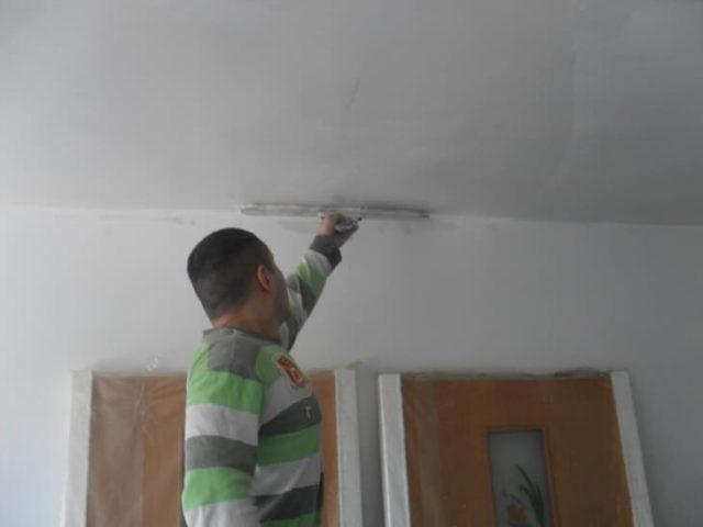Отделка стен шпаклевкой