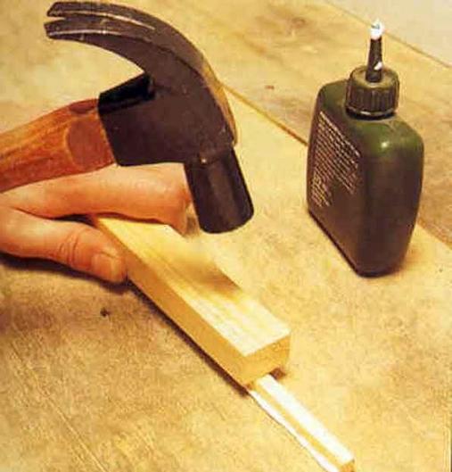 Устранение щелей с помощью деревянных реек